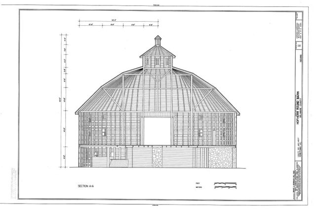 Hofherr Round Barn, County Road 650 West, Yorktown, Delaware County, IN