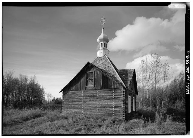 Holy Assumption Russian Orthodox Church, Chapel of St. Nicholas, Mission & Overland Streets, Kenai, Kenai Peninsula Borough, AK