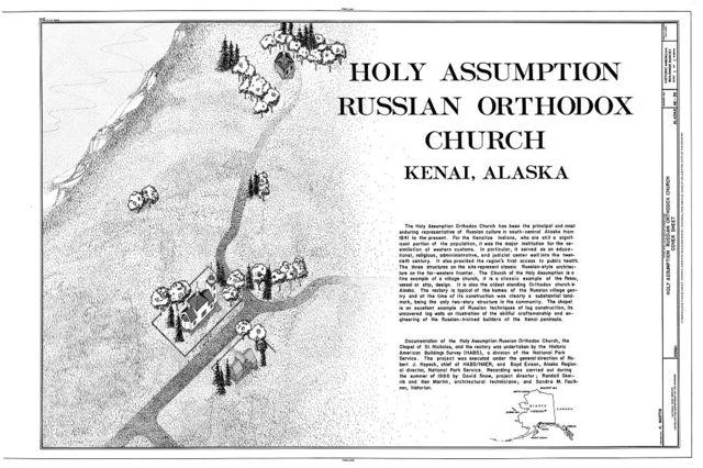 Holy Assumption Russian Orthodox Church Complex, Kenai, Kenai Peninsula Borough, AK