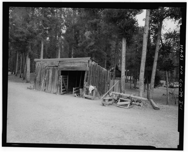 Holzwarth Trout Lodge, Woodshed, Trail Ridge Road, Grand Lake, Grand County, CO