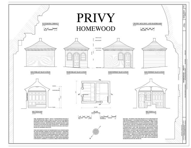 Homewood, Privy, North Charles & Thirty-Fourth Streets, Baltimore, Independent City, MD
