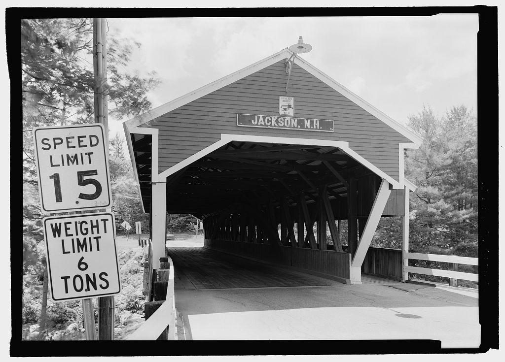 Honeymoon Bridge, Spanning Ellis River at State Route 16A, Jackson, Carroll County, NH