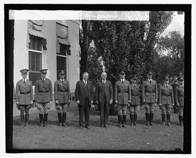 Hoover & Army engineers, 10/4/29
