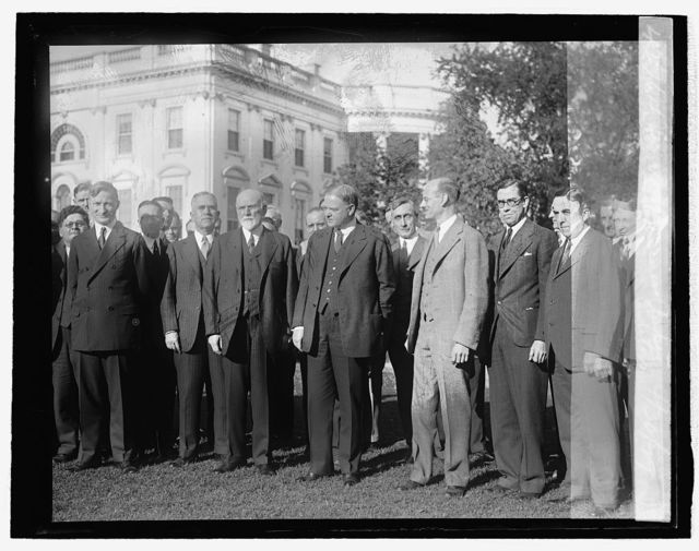 Hoover & business paper editors, 4/30/29