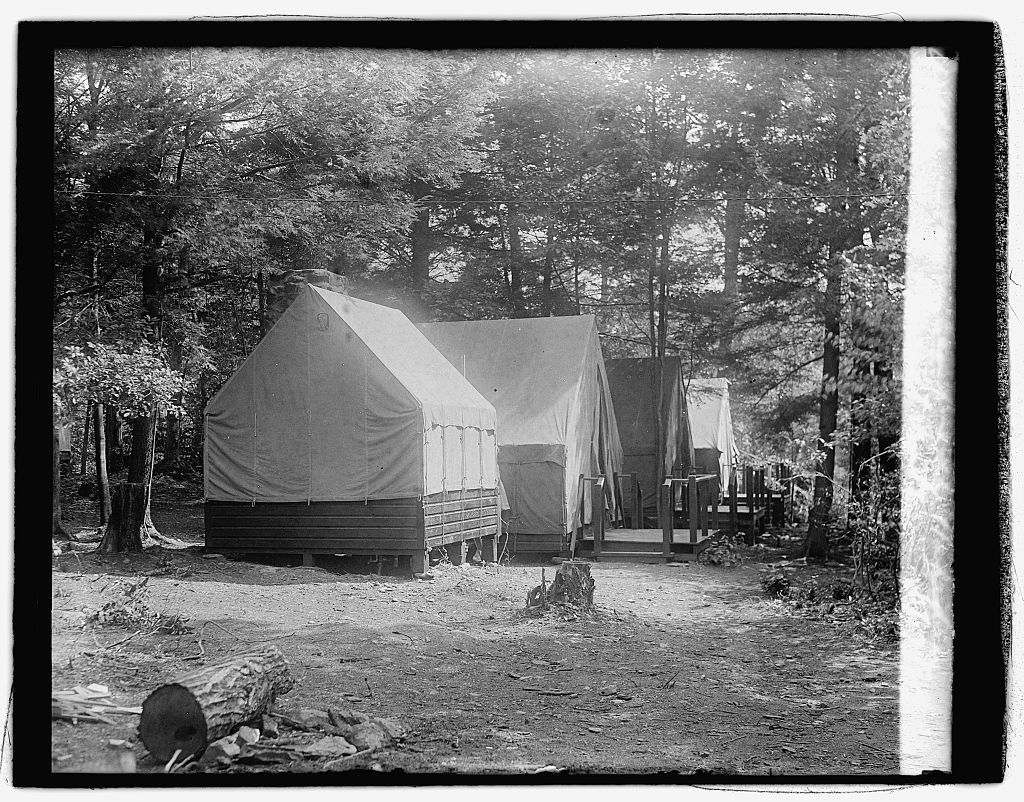 Hoover camp on the Rapidan, guest tents, 8/17/29