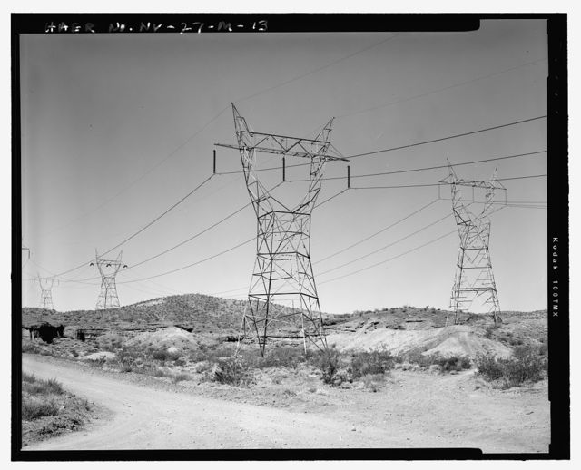 Hoover Dam, Los Angeles Bureau of Power & Light Lines 1-3, U.S. Highway 93, Boulder City, Clark County, NV