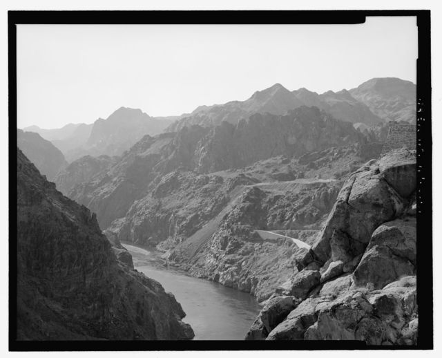 Hoover Dam, Spanning Colorado River at Route 93, Boulder City, Clark County, NV