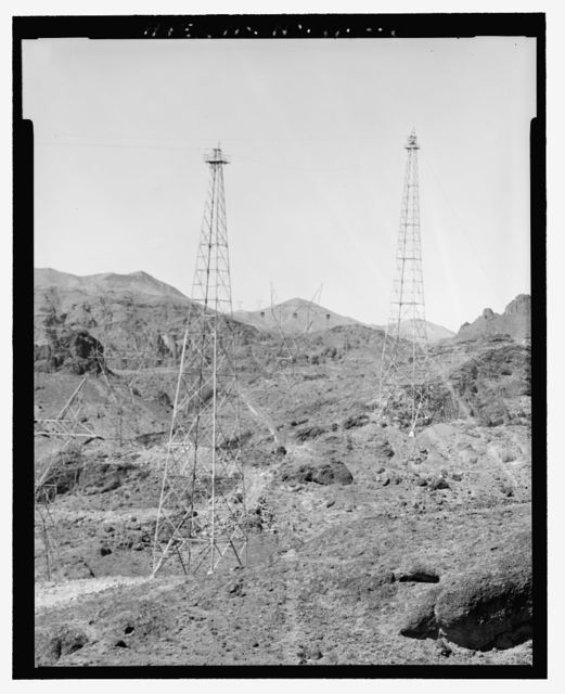 Hoover Dam, Static Towers & Lines, U.S. Highway 93, Boulder City, Clark County, NV