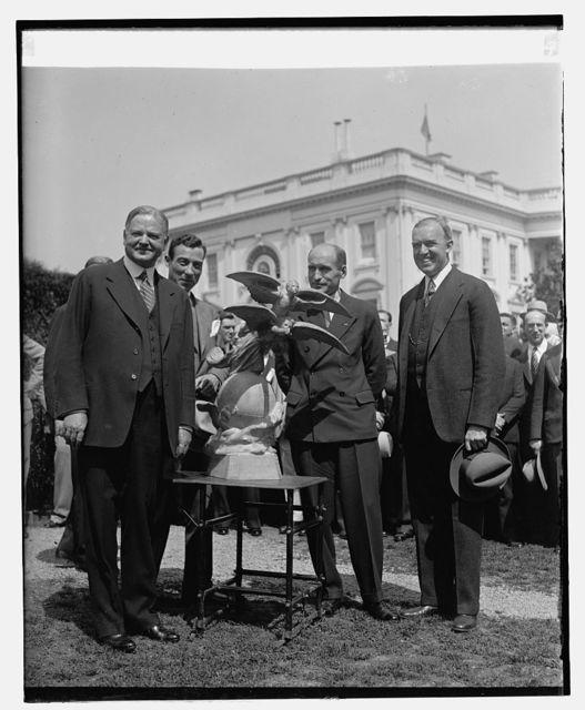 Hoover, Lt. Eielson, McCracken, 4/8/29