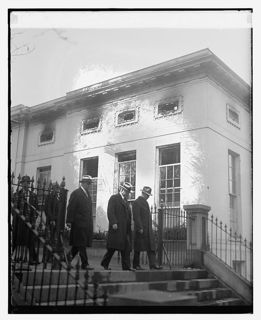Hoover with Akerson & Newton leaving White House, 12/27/29