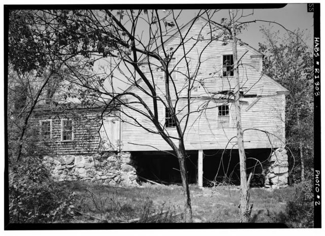 Hopkins Mill, State Route 3 & Nooseneck River, East Greenwich, Kent County, RI