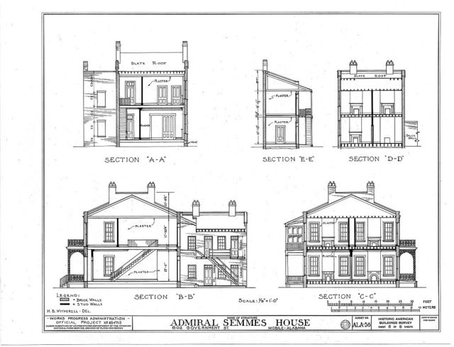 Horta-Semmes House & Fence, 802 Government Street, Mobile, Mobile County, AL