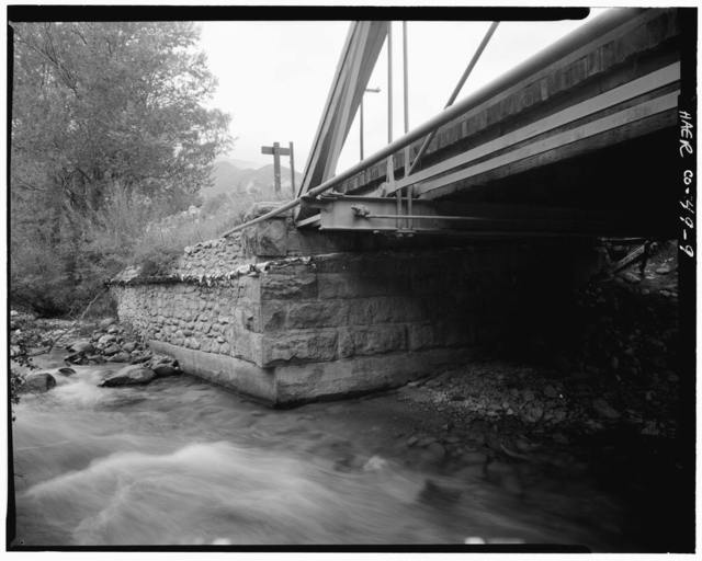 Hortense Bridge, Spanning Chalk Creek on State Highway 162, Nathrop (historical), Chaffee County, CO