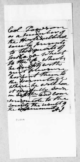 Horticultural Society to Andrew Jackson