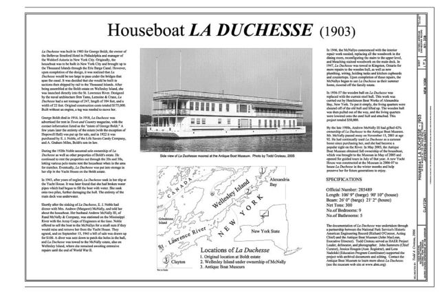 Houseboat LA DUCHESSE, The Antique Boat Museum, Clayton, Jefferson County, NY