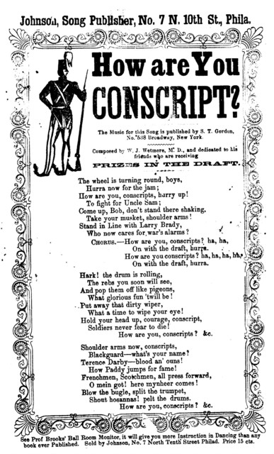 How are you conscript? Johnson, Song Publisher, ... Phila