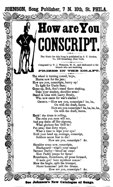 How are you conscript. Johnson, Song Publisher, ... Phila