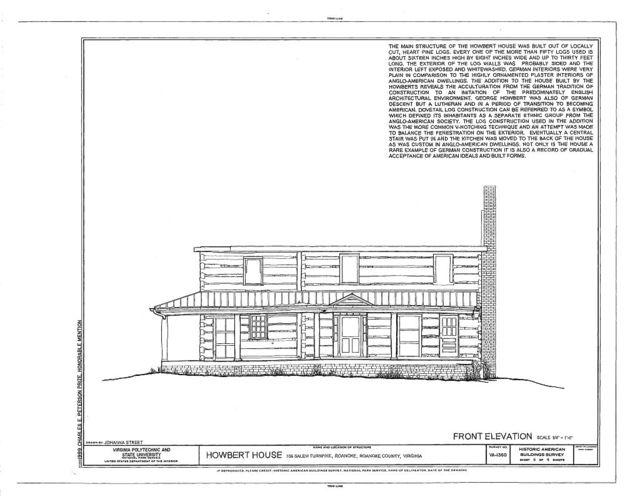 Howbert House, 106 Salem Turnpike, Roanoke, Roanoke City, VA