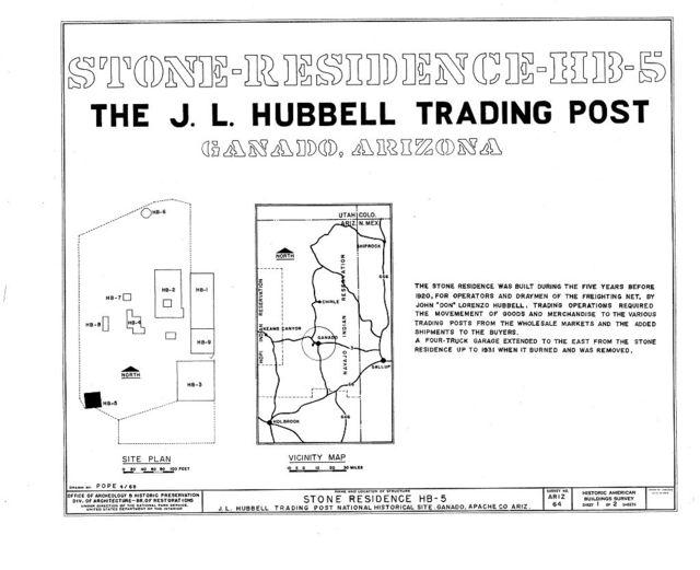 Hubbell Trading Post, Bunkhouse, Ganado, Apache County, AZ