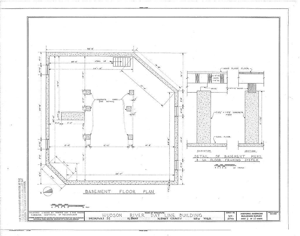 Hudson River Day Line Building, Broadway Street, Albany, Albany County, NY