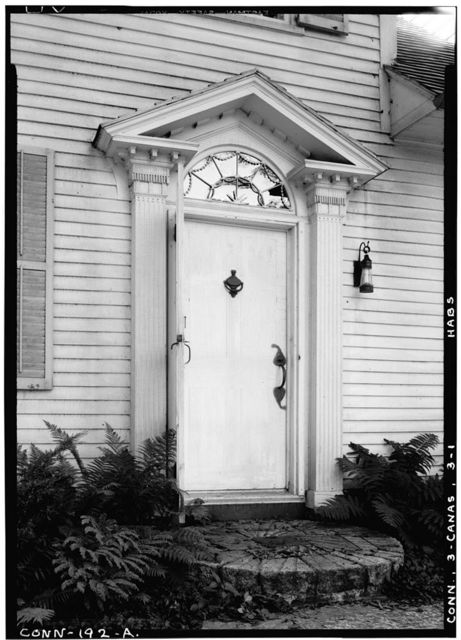 Hunt House (Doorway), South Canaan, Litchfield County, CT