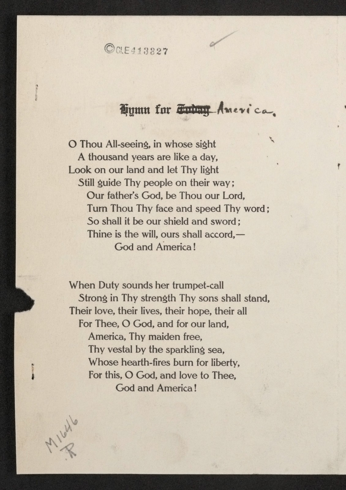 Hymn for America