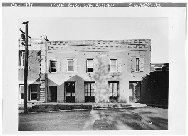 I. O. O. F. Hall, Main Street, San Andreas, Calaveras County, CA