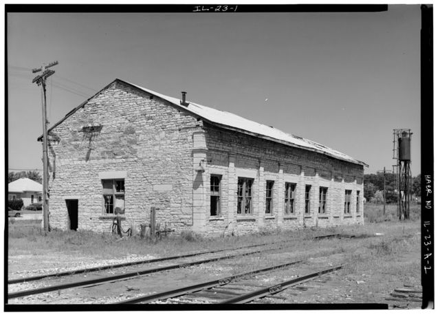 Illinois Central Railroad, Freight Depot No. 1, North of First Street, east of Union Street, La Salle, La Salle County, IL