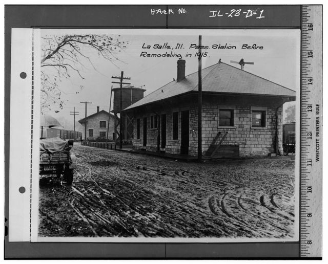 Illinois Central Railroad, Passenger Depot No. 2, North of First Street, east of Union Street, La Salle, La Salle County, IL