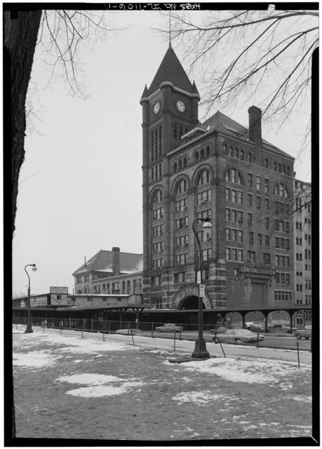 Illinois Central Railroad Station, Michigan & Roosevelt Streets, Chicago, Cook County, IL