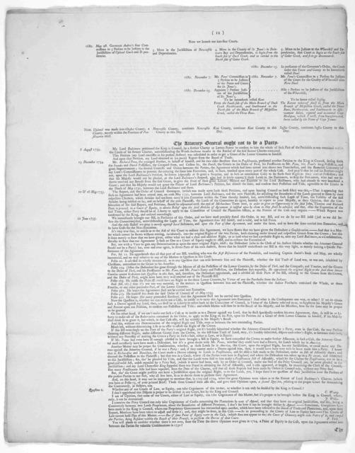 In case. John Penn, Thomas Penn, and Richard Penn, Esqrs. Plaintiffs. Charles Calvert Esq; Lord Baltimore in the Kingdom of Ireland. Defendant. Th Plaintiffs case. [1743].
