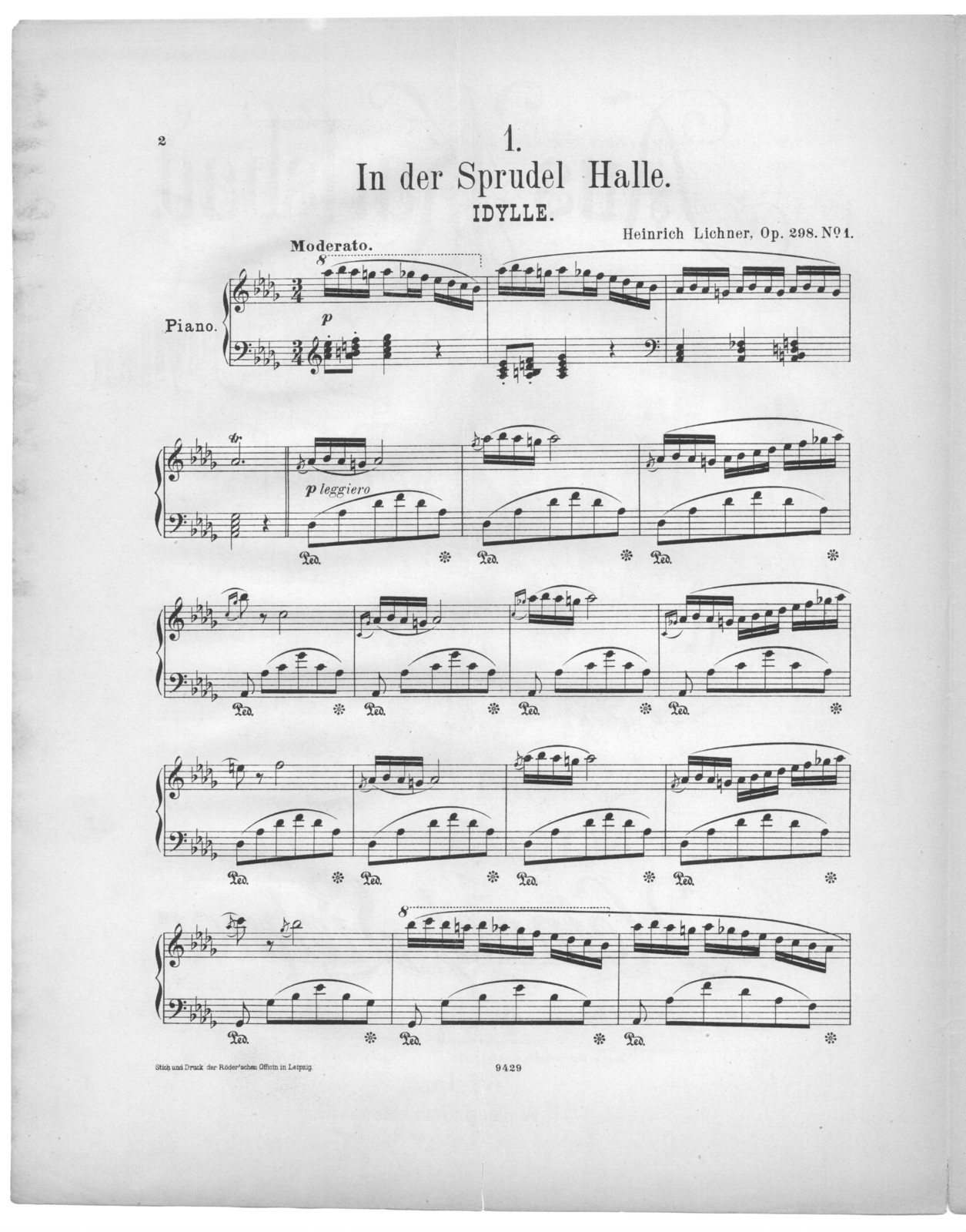 In der Sprudel Halle, op. 298, no. 1