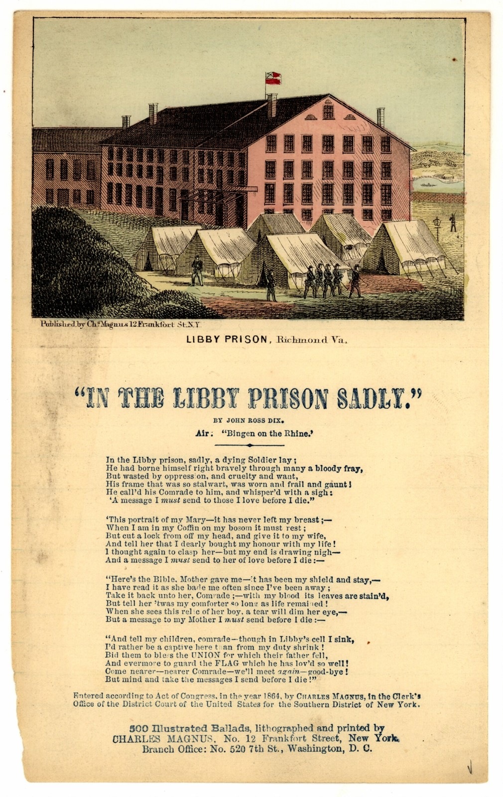 """In the Libby prison sadly."" By John Ross Dix"