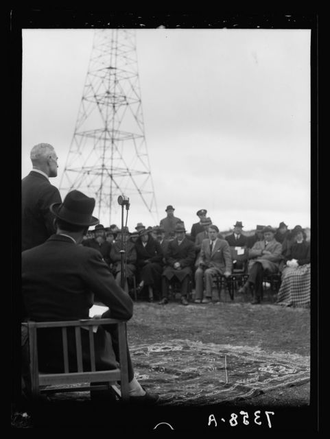 Inauguration of the Palestine Broadcasting Service. March 30 -1[936]. Lt. Col. William Hudson, Postmaster General, introducing H.E. (i.e., His Excellency) [Ramallah]