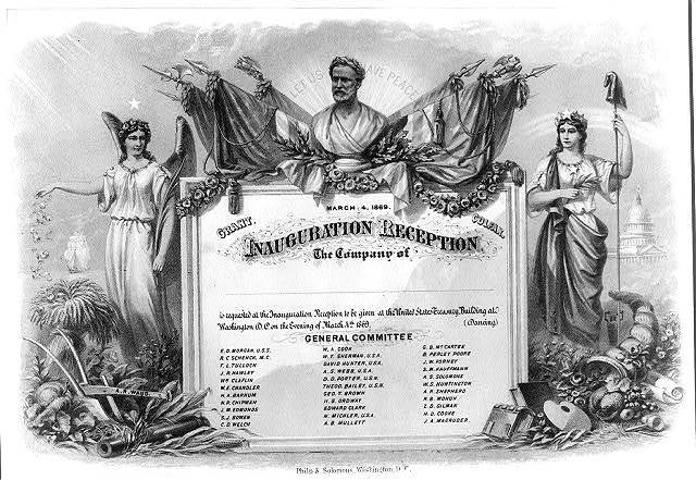 Inauguration reception (invitation) March 4, 1869