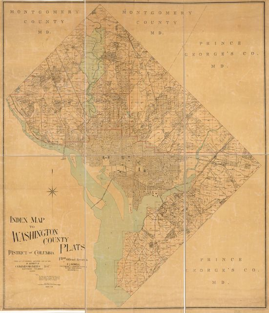 Index map to Washington County plats, District of Columbia : from official records /