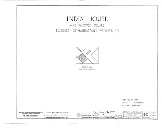 India House, 1 Hanover Square, New York, New York County, NY