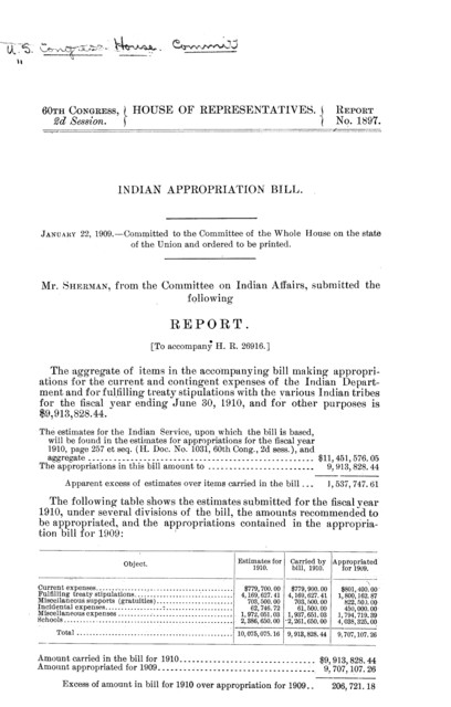 Indian appropriation bill ...