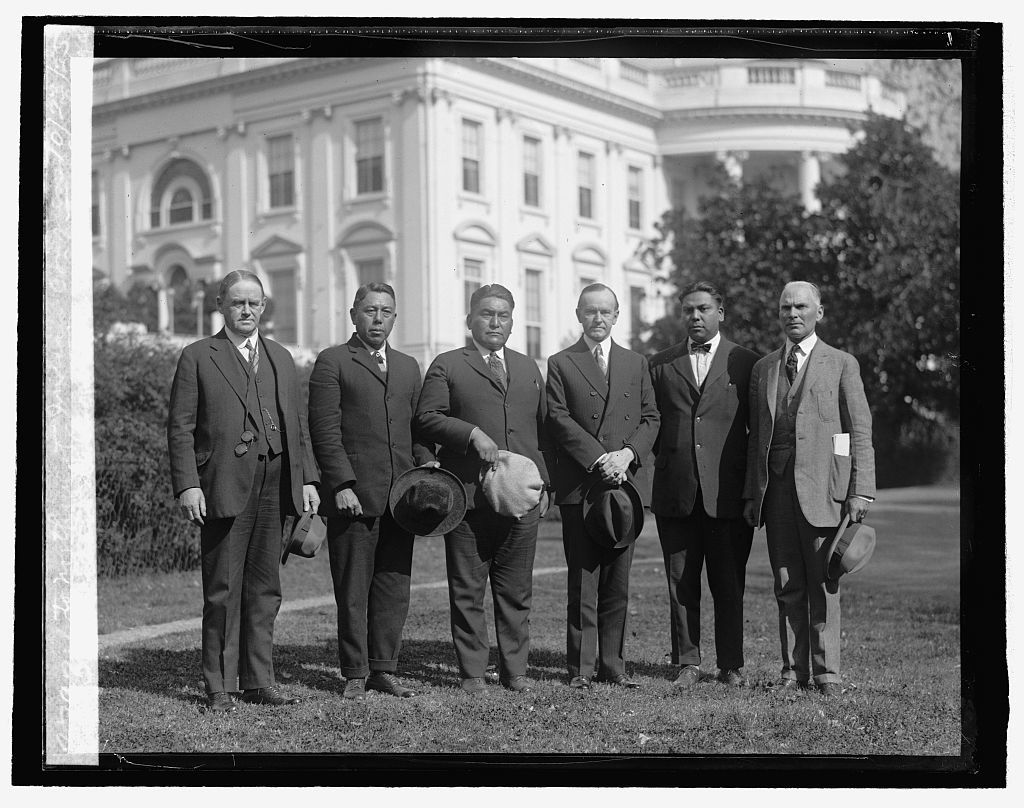Indian Delegation invites Coolidge to Northwest Indian Congress, 10/23/25
