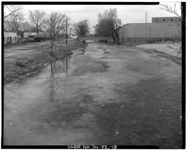 Indiana Central Canal, Indianapolis Division, Parallel to West Street, Indianapolis, Marion County, IN