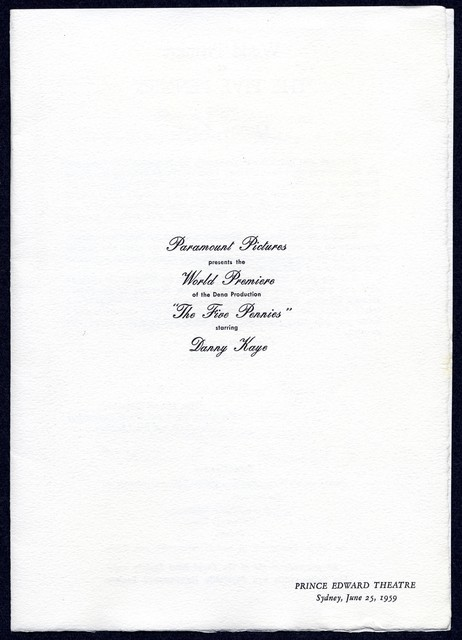 """[ Invitation to """"The Five Pennies"""" under the patronage of Sir Eric and Lady Woodward, includes R.S.V.P form for donation to the Royal Blind Society]"""