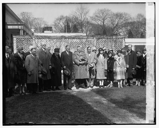 Iowa group with Hoover, 3/6/29