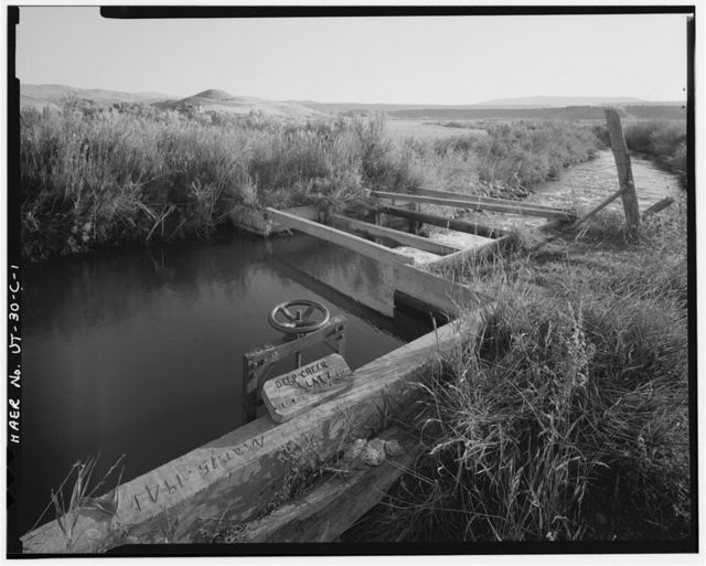 Irrigation Canals in the Uinta Basin, Deep Creek Canal, Duchesne, Duchesne County, UT