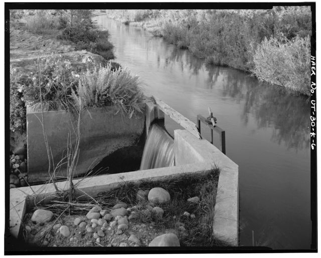 Irrigation Canals in the Uinta Basin, Rocky Point Canal, Duchesne, Duchesne County, UT