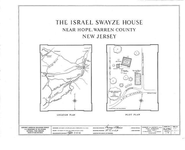 Israel Swayze House, Hope, Warren County, NJ