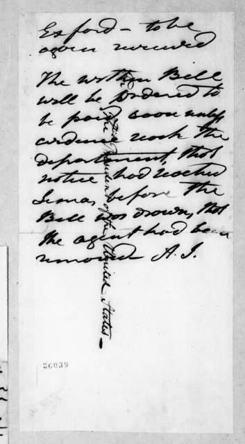 J. Callen to Andrew Jackson