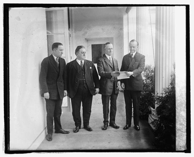 J.A. Copeland, C.J. Mahoney, Harmon G. Drew, Coolidge, 9/29/24