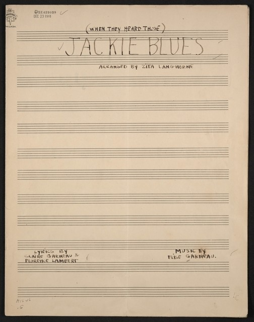 Jackie blues (when they heard those)