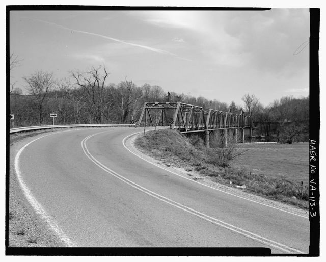 Jackson's Ferry Bridge, Route 52 over New River, 6.3 miles south of Route 94, Austinville, Wythe County, VA