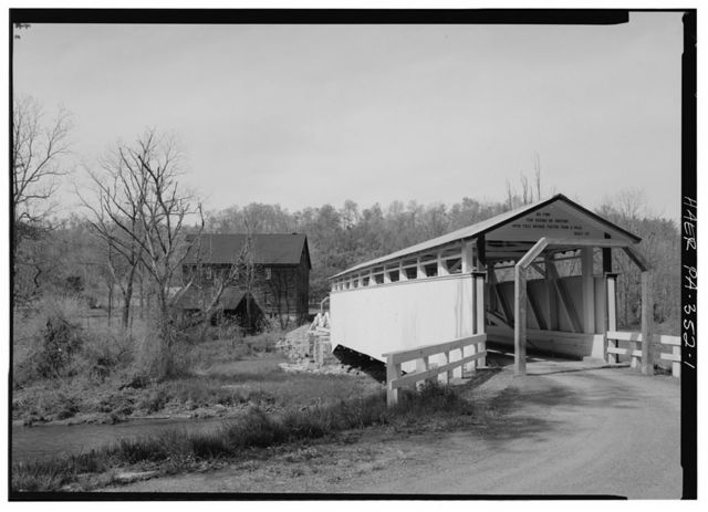 Jackson's Mill Covered Bridge, Spanning Brush Creek on Township Route 412, Breezewood, Bedford County, PA